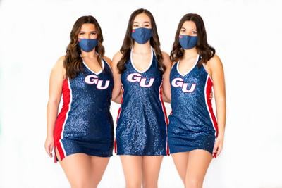 Alexis Villanueva (left), Meghan Horn (middle), and Maya Gutierrez (right) are the captains of the GU Dance Team.