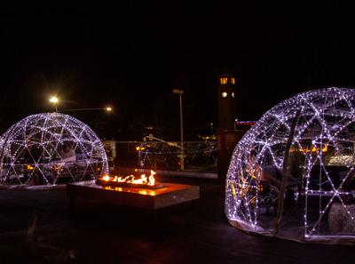 Find a Spokane winter wonderland at the Davenport Hotel Igloos
