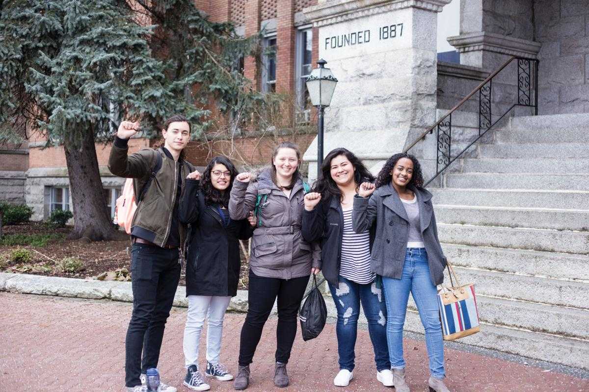 members of united student against sweatshops group on gonzagas campus