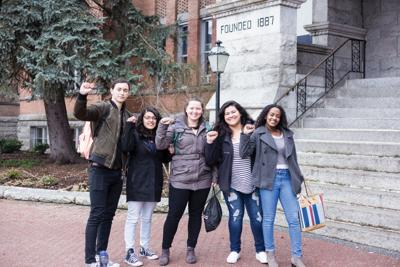 Members of United Student Against Sweatshops group on Gonzaga's campus