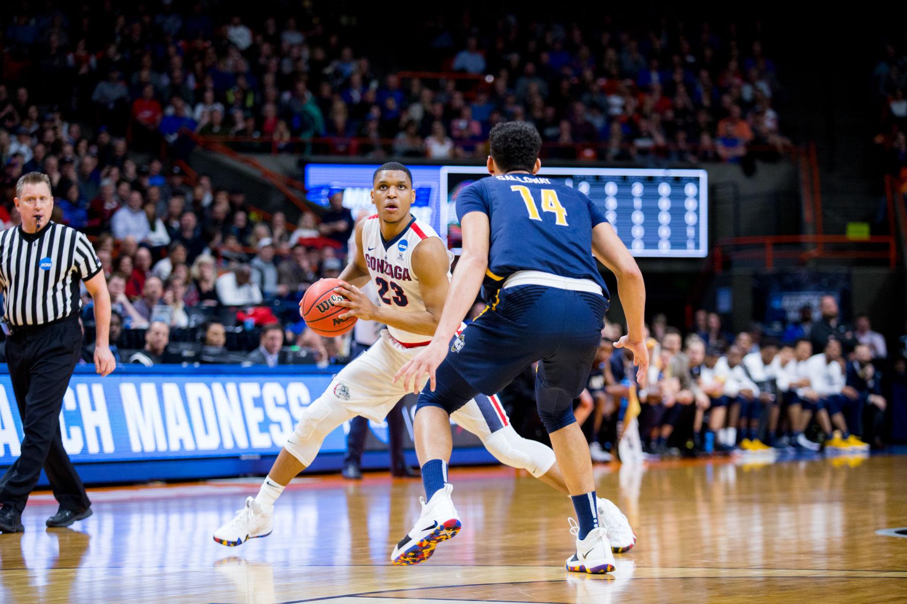 Zach Norvell Jr Gonzaga Bulldogs Final Four Basketball Jersey - Blue