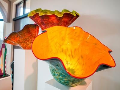 15 glass sculptures will now join the Chihuly display in the Chancellor's Room of the Jundt Art Museum.