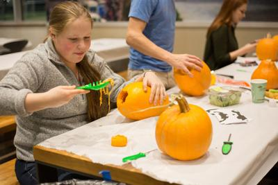 20171027 Pumpkin carving and campus costumes -LKenneally