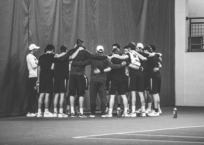 Tennis schedule black and white