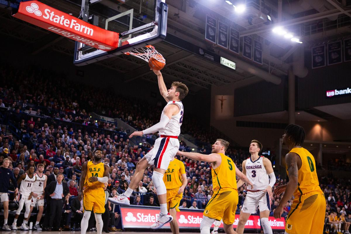 Gonzaga Bulldogs defeat USF 71-54 after disappointing first half