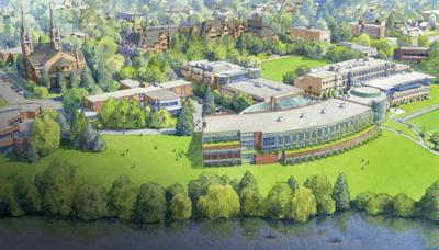 Rendering of the Integrated Science and Engineering building