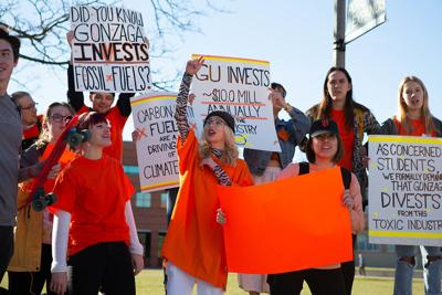 Fossil fuel divestment rally