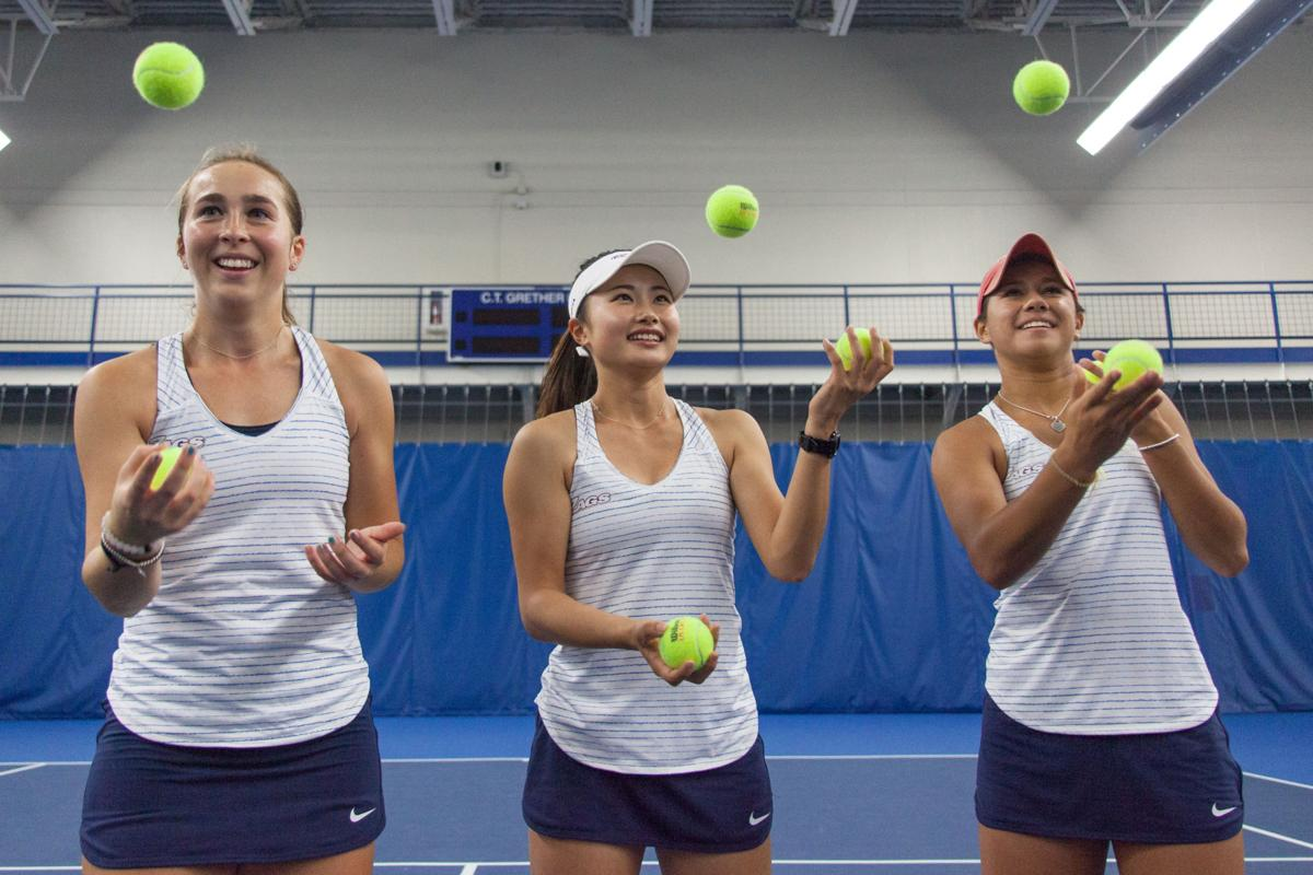 Freshman Women's Tennis Players