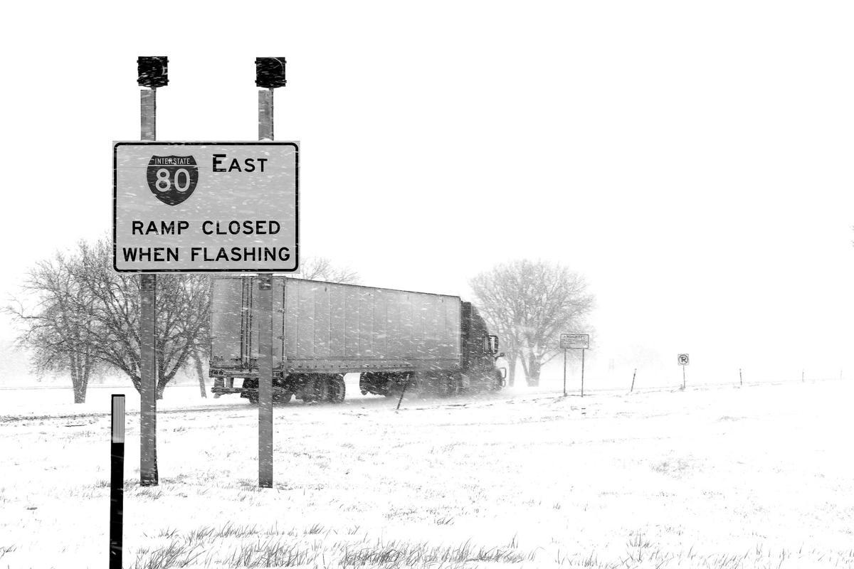 Eastbound truck - BW.jpg