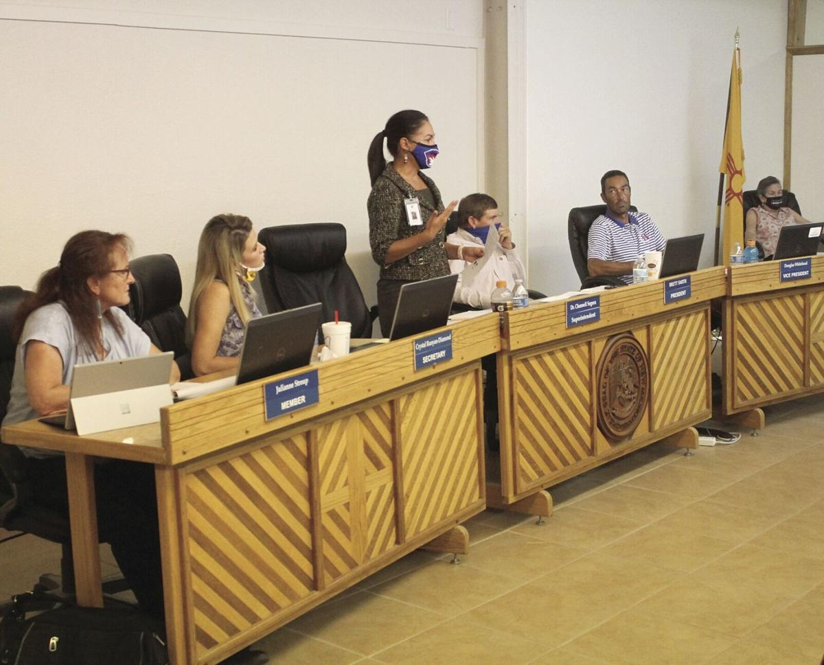 School Board Meeting Board with Channell Segura.tif