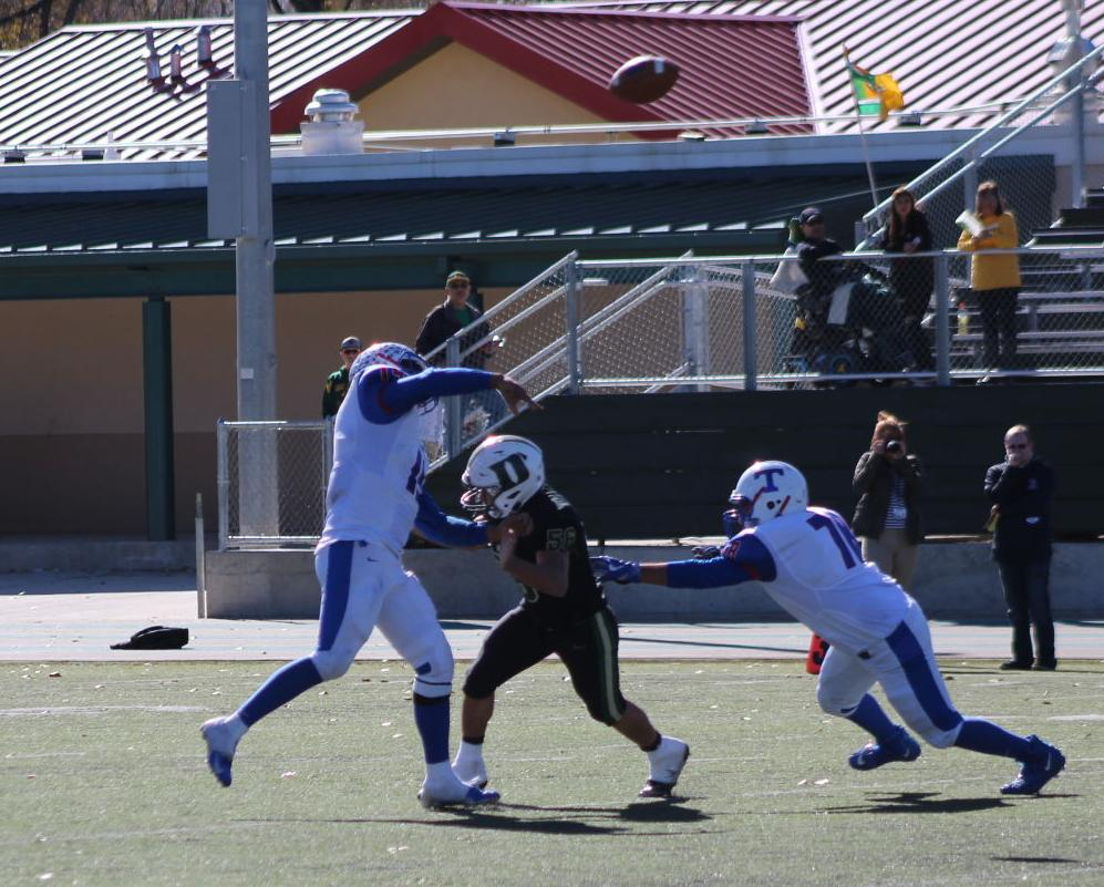 Benito Villa, Tiger Quarterback Launches A Pass In The State Championship Playoff Game At West Las Vegas