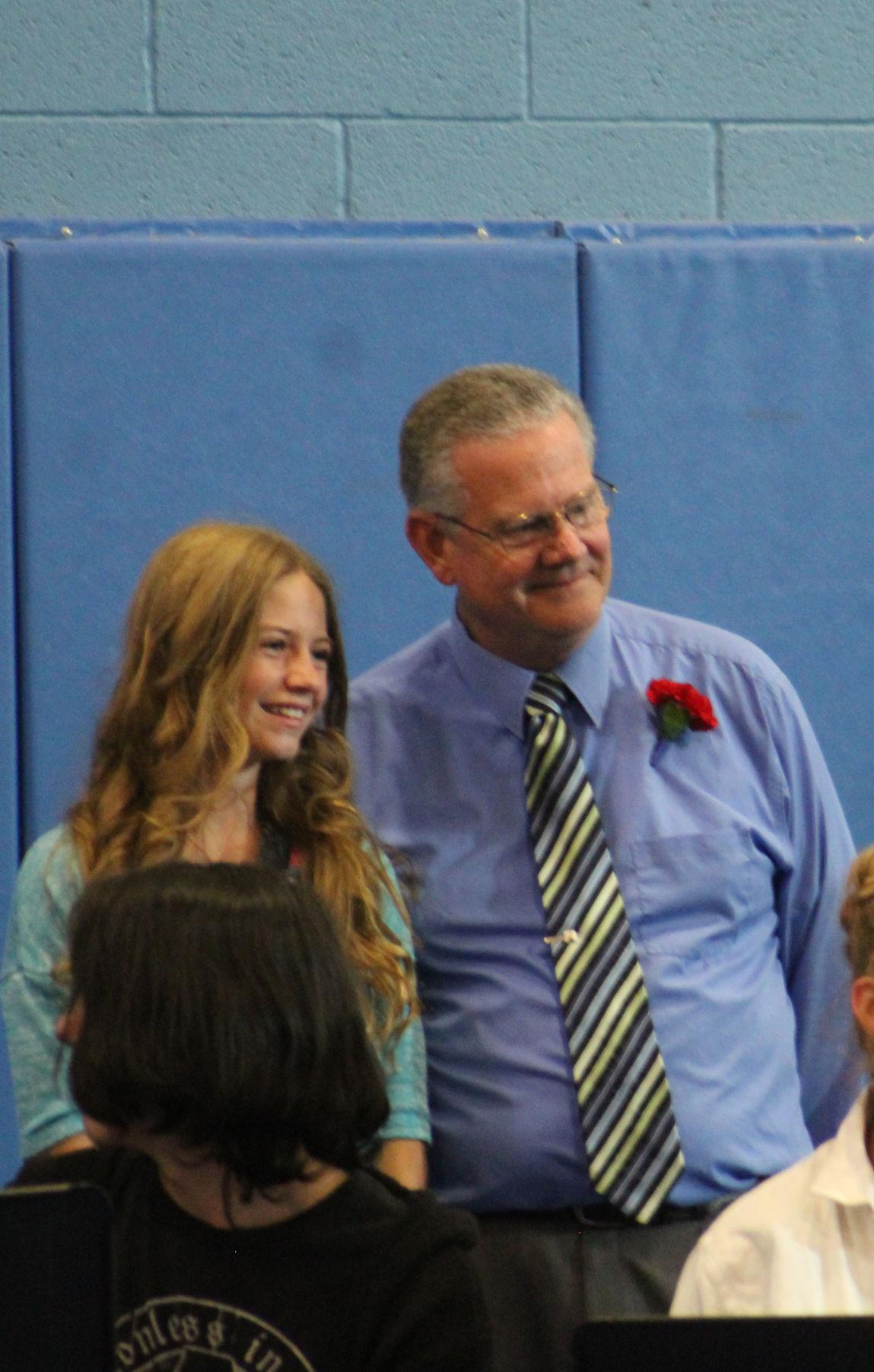 John Price with Student at 2018 Graduation