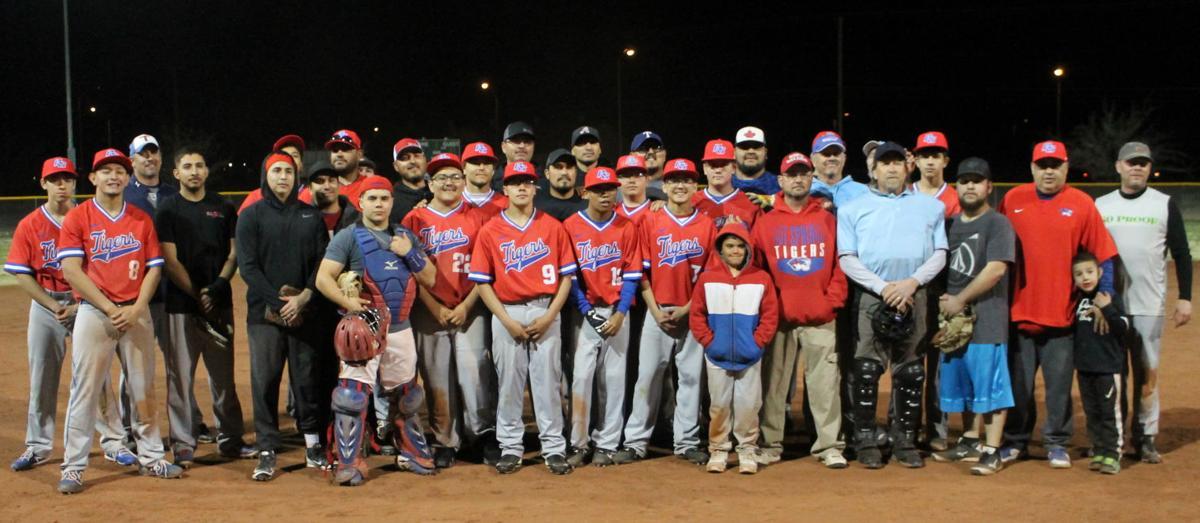 Baseball Alumni Game Full Teams Shot.JPG