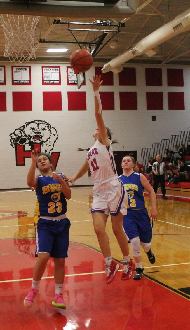 Tiger Guard Taylor Hearn Drives To The Hoop For Two