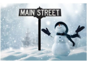 Snowman on Main Street