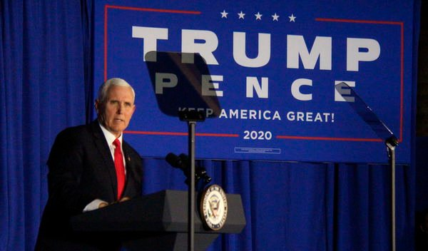 Pence slams Democrats, impeachment during Holland stop