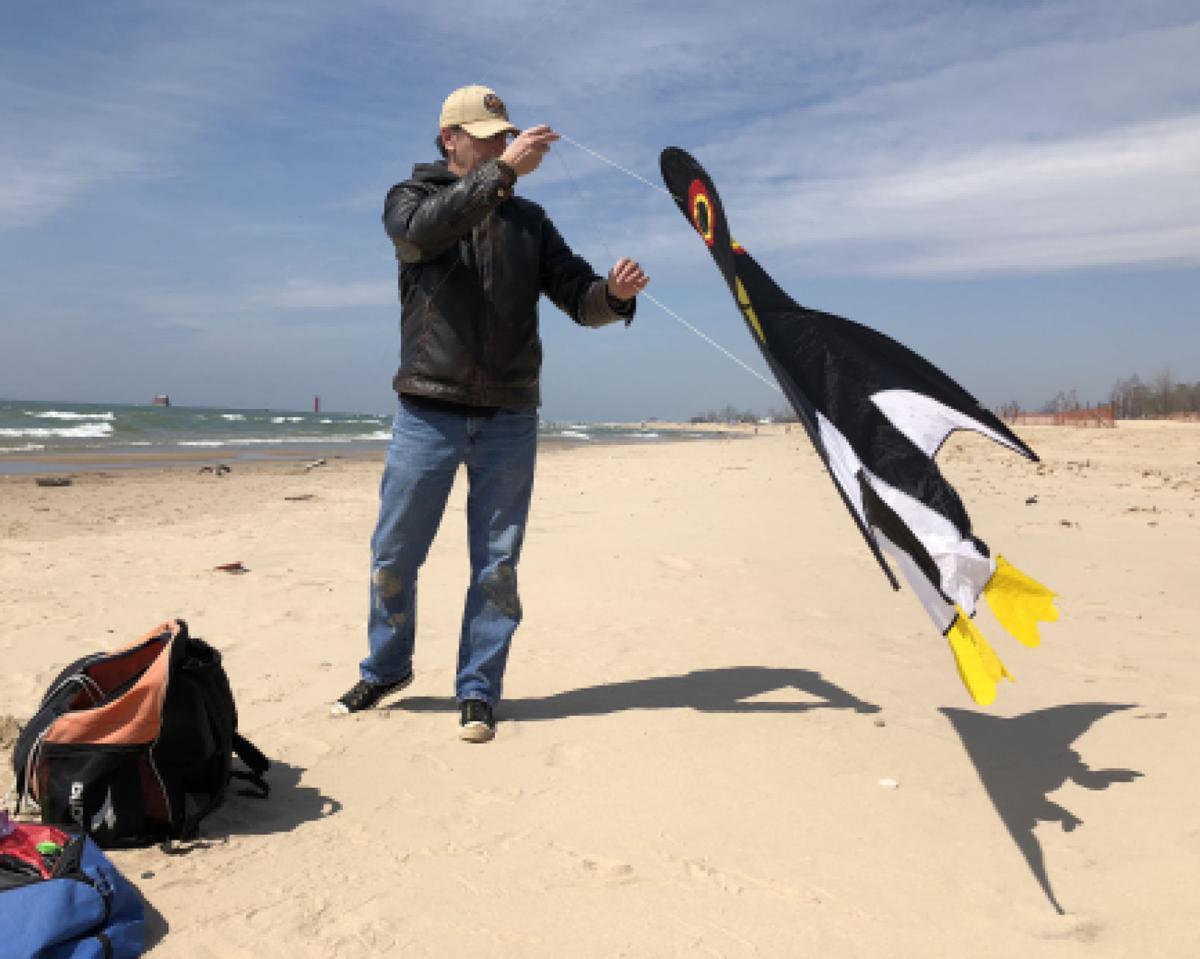 Preparing for the kite fest