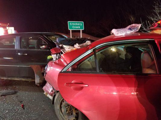 Three hurt, one arrested in rear-end crash on I-96 near Nunica