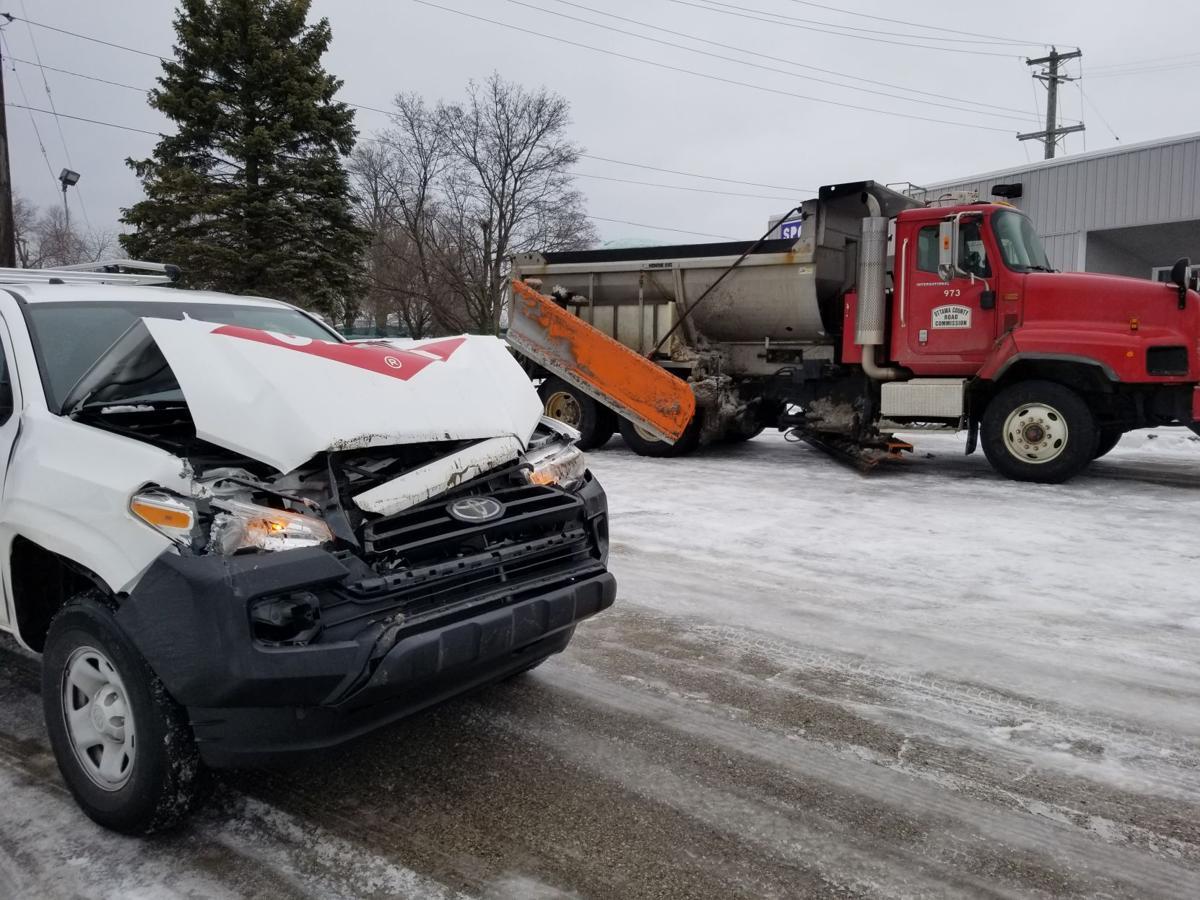 2 Plow truck crash