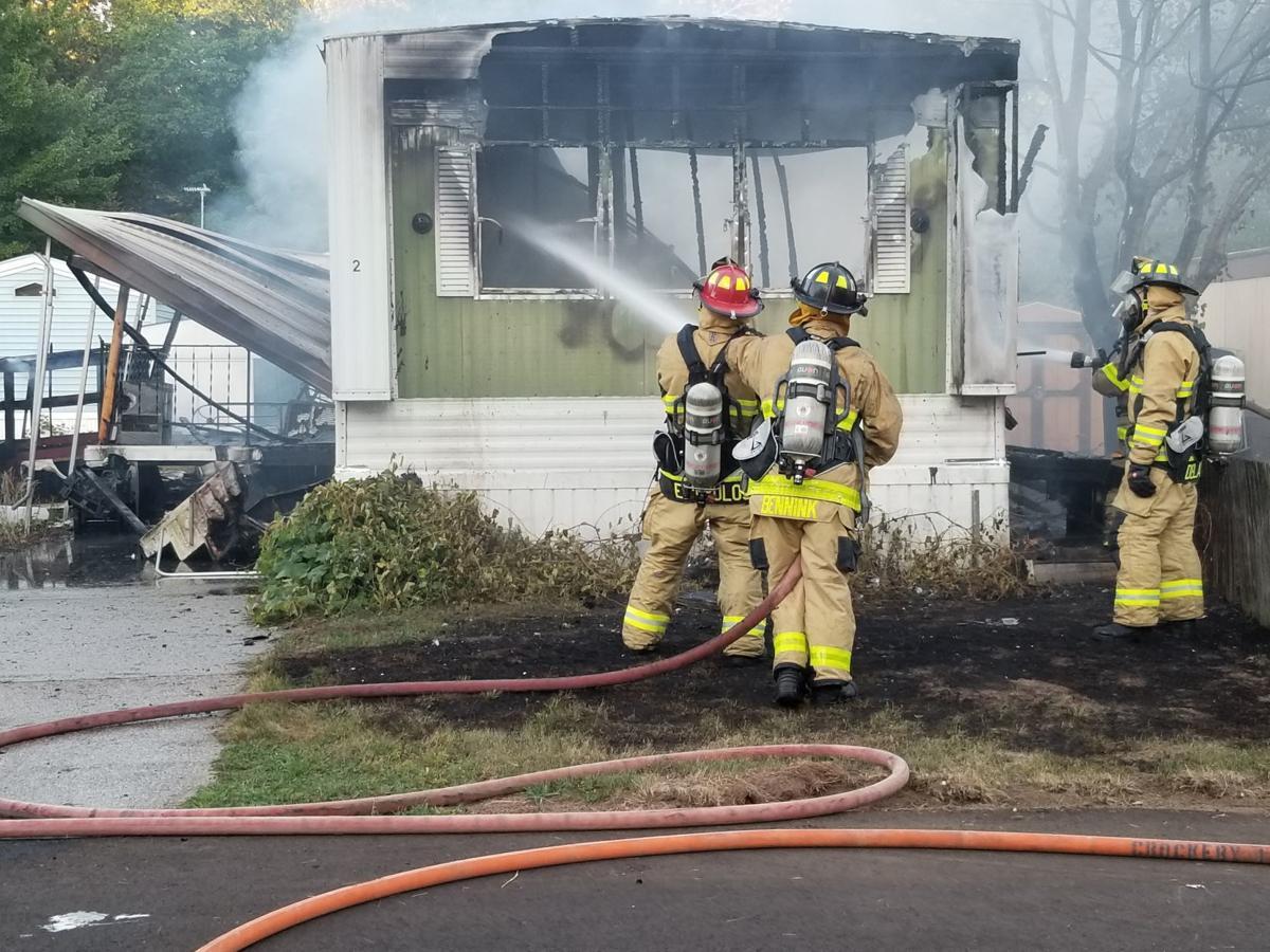 2 Crockery mobile home fire
