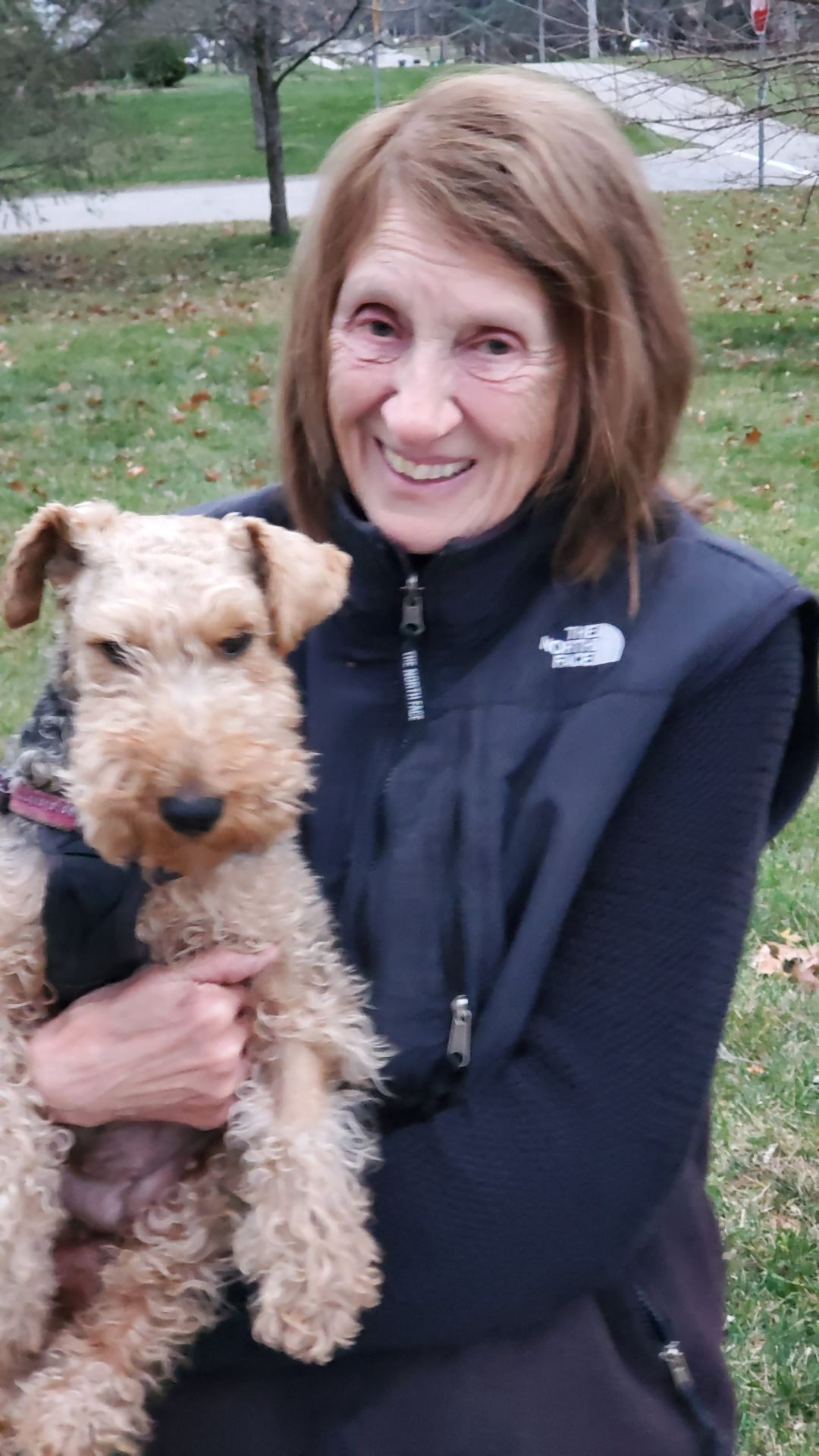 Dog rescue Snack and owner Janet