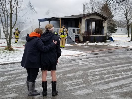 Fire destroys Spring Lake Township home