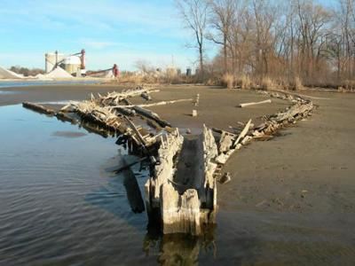 High water uncovers pieces of history