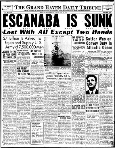 Escanaba sank 75 years ago today