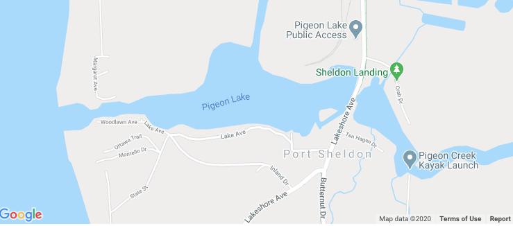 Pigeon Lake map