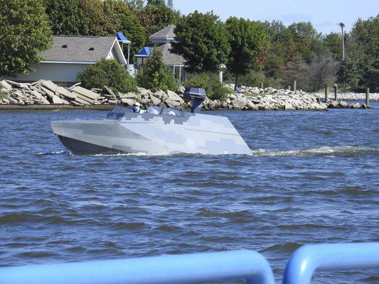 Navy boats conduct training in Grand Haven