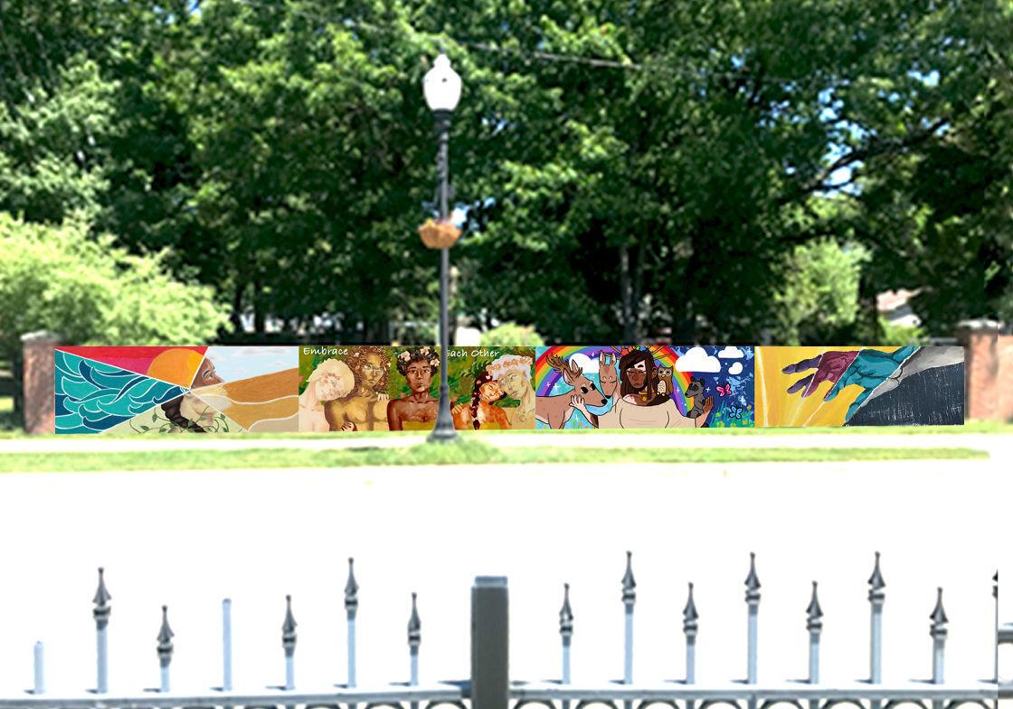 Art in Park mural mockup