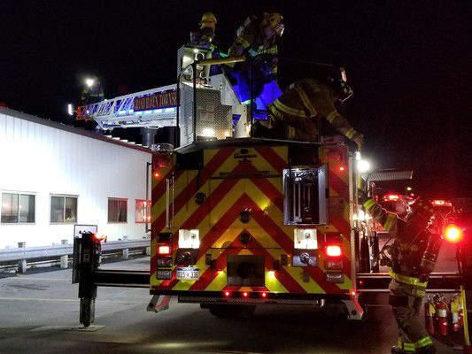 Roof burns at Automatic Spring Products building