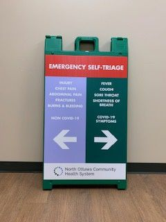2 Hospital update triage sign