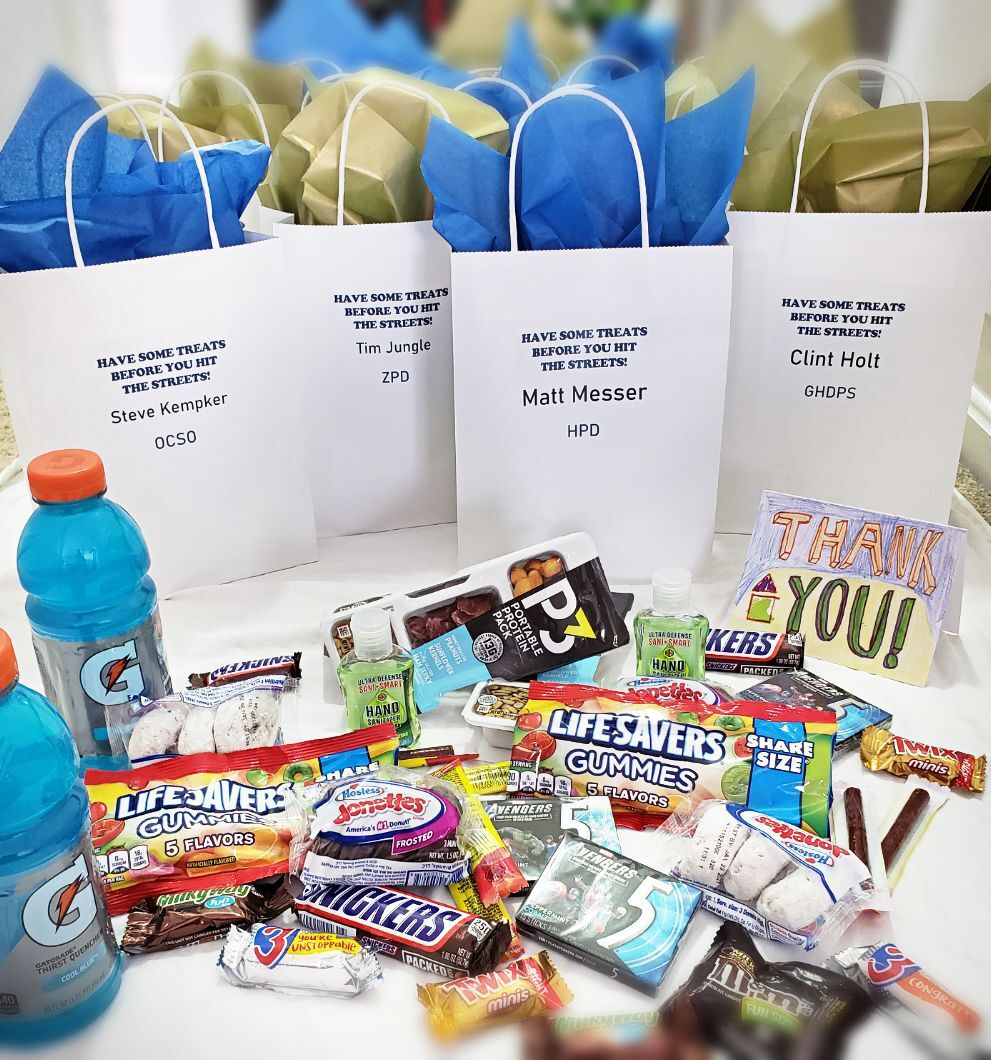 Law Enforcement Appreciation Day gift bags