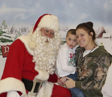 Santa visits Ottawa Area Center students