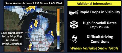 Winter weather advisory for Tuesday