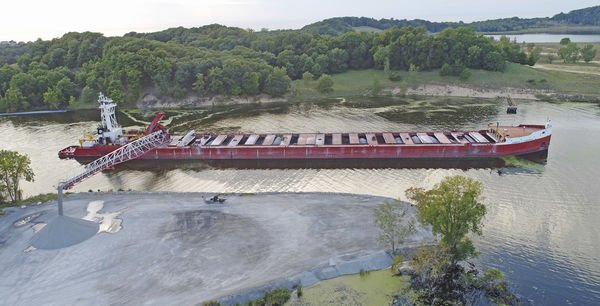 Newly named barge delivers to Grand Haven