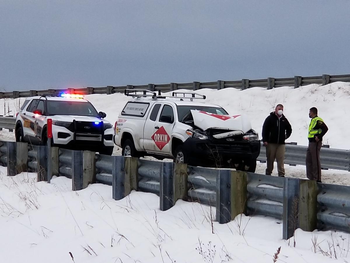 1 Plow truck crash