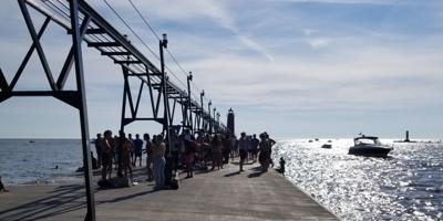 Gun incident crowded pier