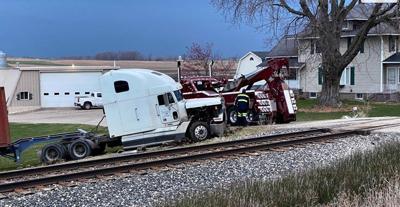 train semi crash