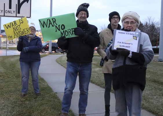 West Michigan Residents show opposition to war with Iran