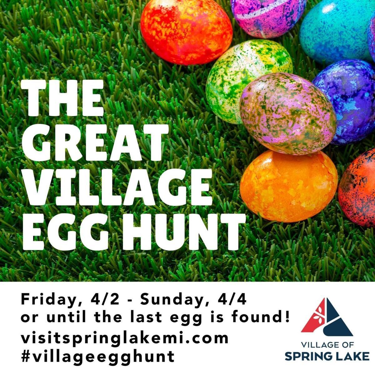 Village Egg Hunt Social Graphic w hashtag