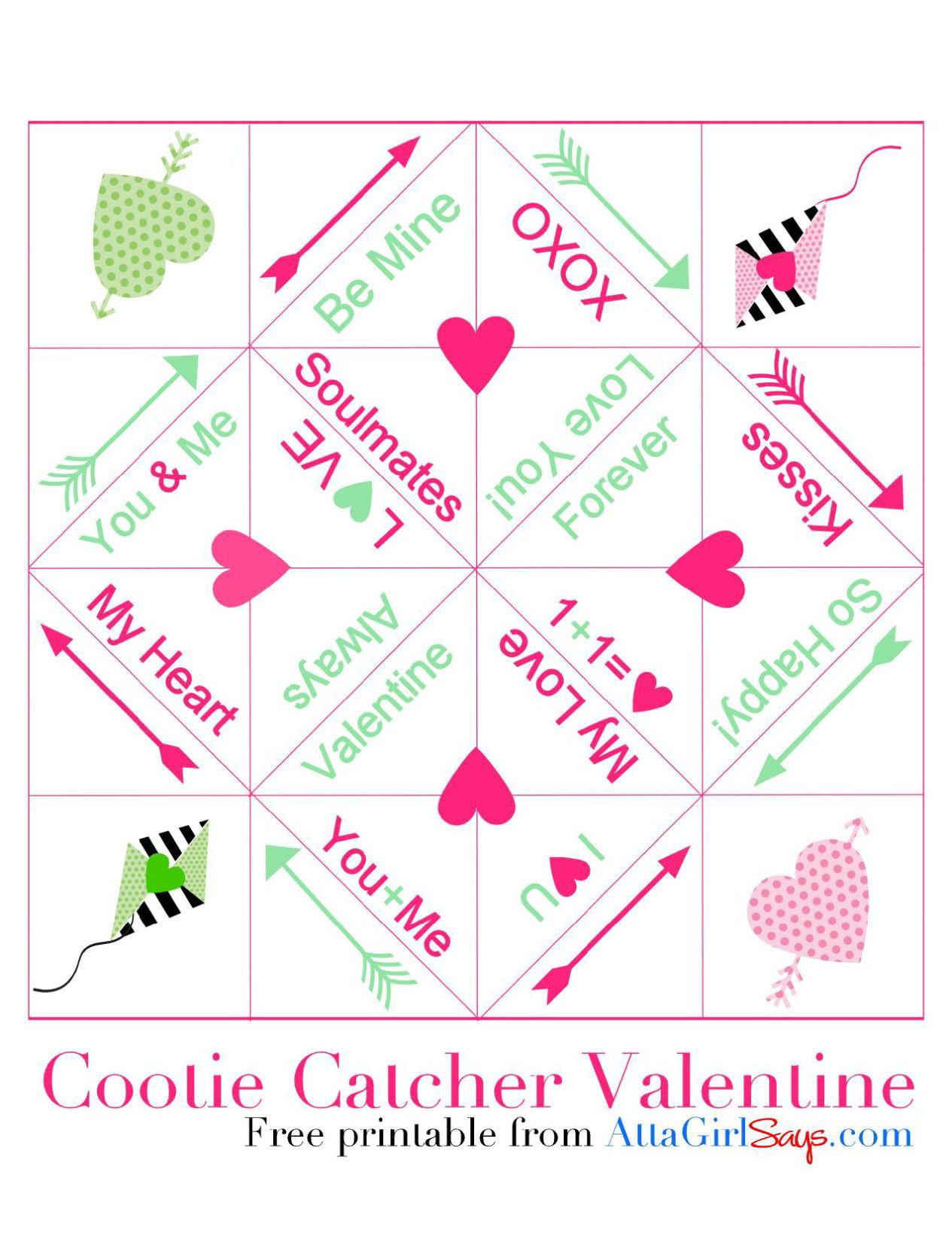 image about Printable Cootie Catcher named printable-valentine-cootie-catcher.pdf