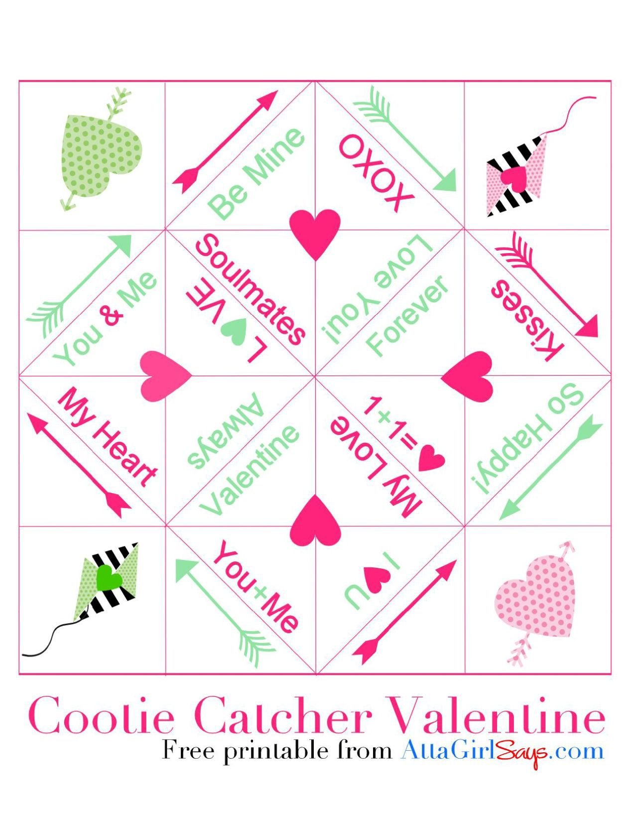 photograph regarding Cootie Catcher Printable named printable-valentine-cootie-catcher.pdf