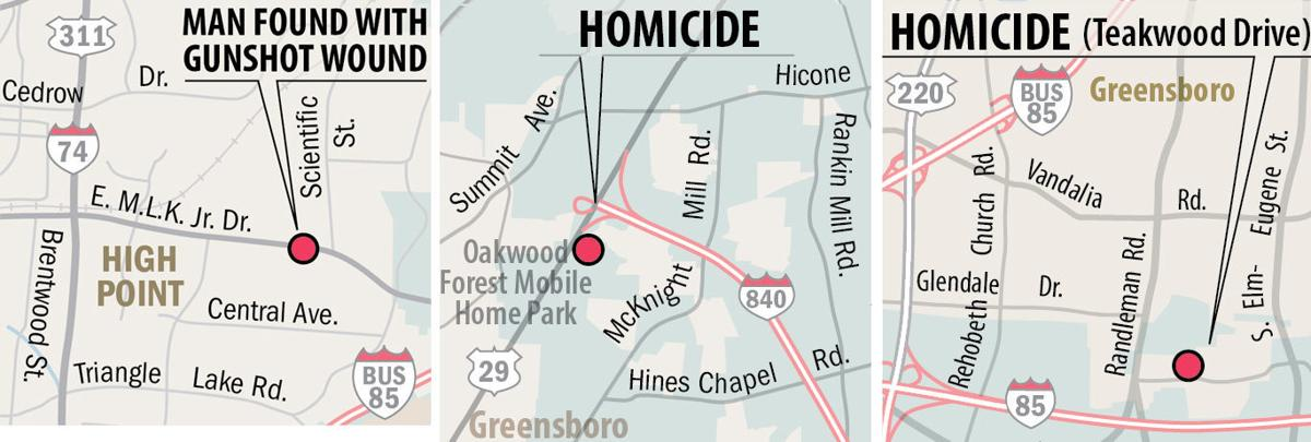 3 killings over the weekend bring Guilford County's homicide