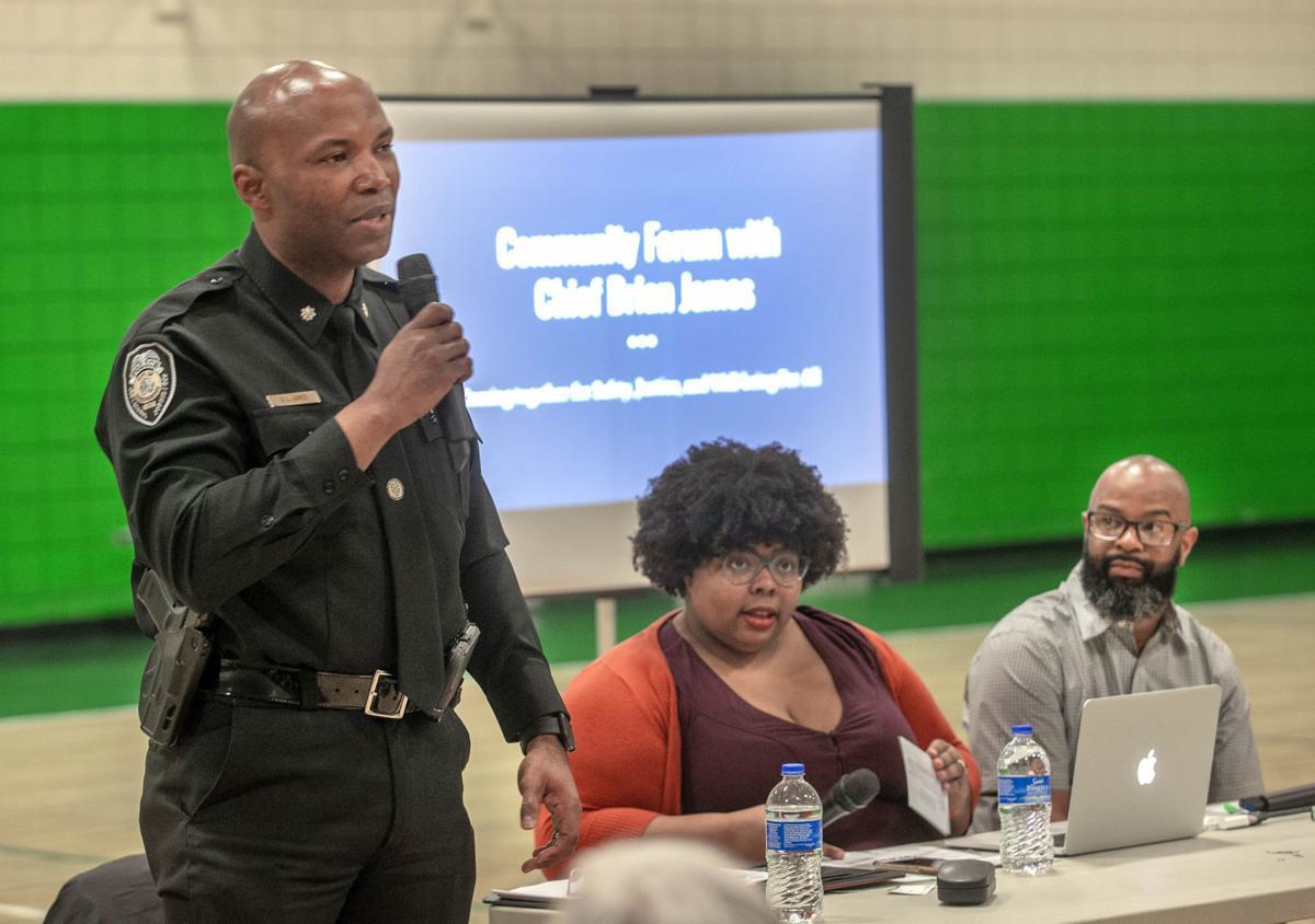 Greensboro Police Chief attends neighborhood forum (copy) (copy)