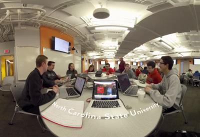 NC State VR tour video still