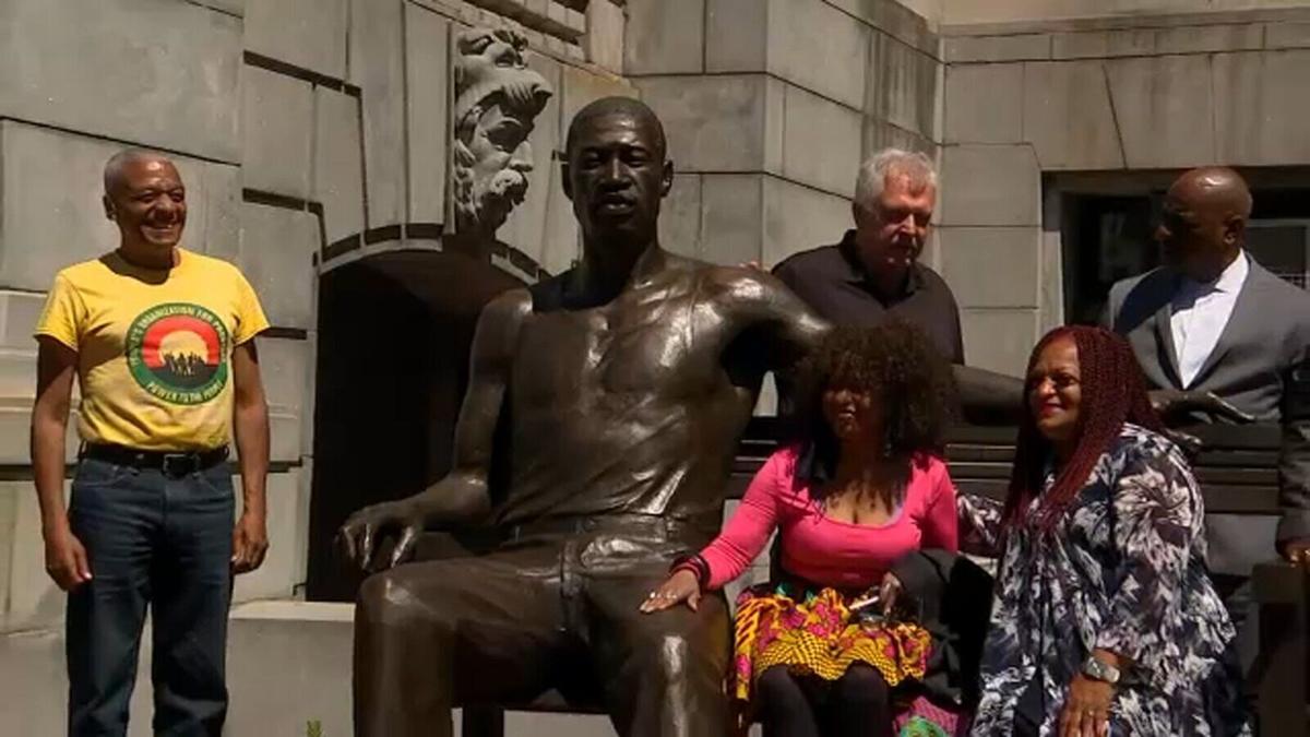 George Floyd statue unveiled