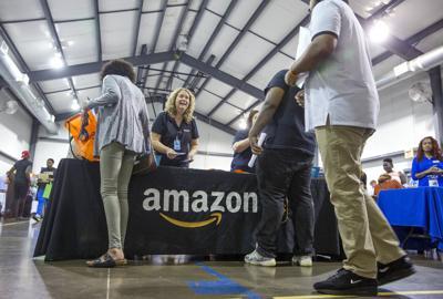 Job seekers flock to job fair about Amazon jobs (copy)