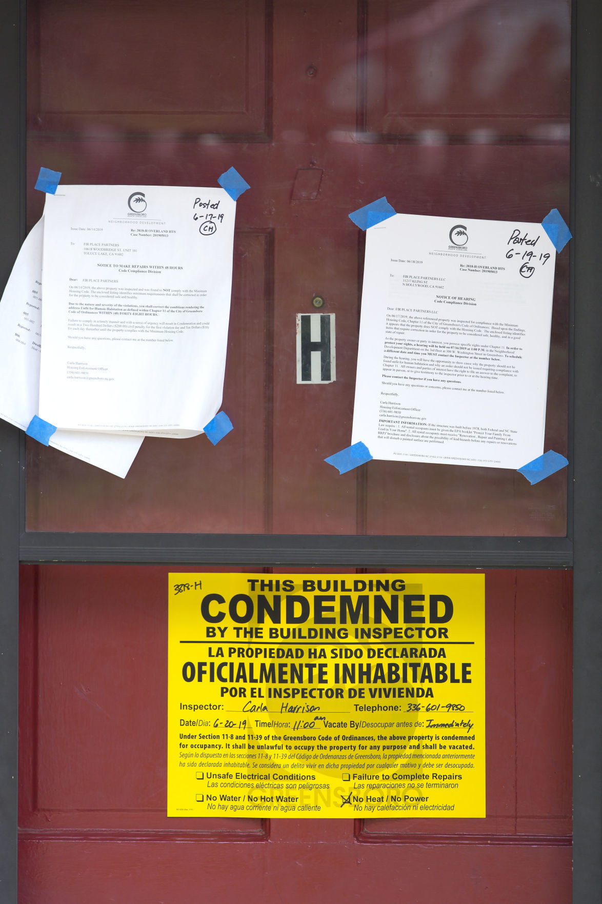 Overland Heights apartments condemned
